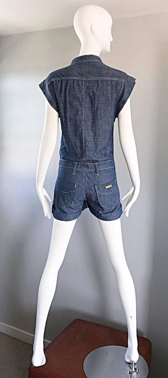 Missoni Denim Blue Jean One Piece Avant Garde Romper Onesie Playsuit Jumpsuit 5