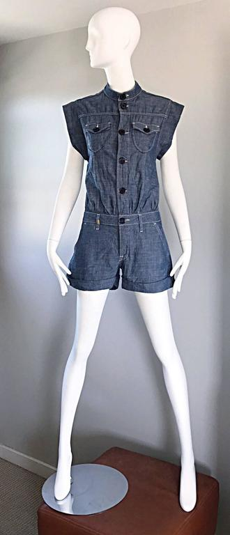 Missoni Denim Blue Jean One Piece Avant Garde Romper Onesie Playsuit Jumpsuit 7