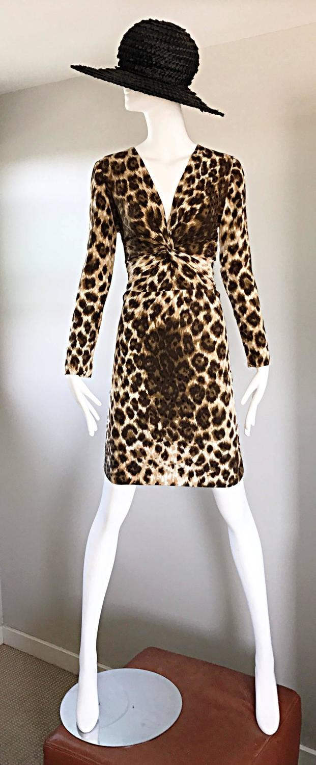 Givenchy By Alexander Mcqueen Vintage 1990s Leopard