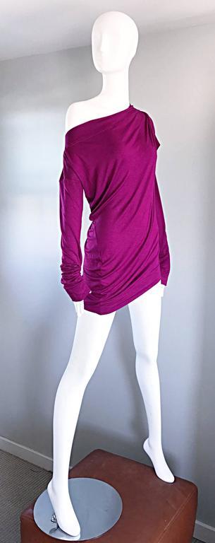 Women's Vivienne Westwood Vintage 90s Magenta Fuchsia Pink Avant Garde Tunic Top Dress For Sale