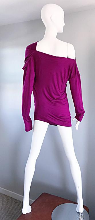 Vivienne Westwood Vintage 90s Magenta Fuchsia Pink Avant Garde Tunic Top Dress For Sale 1