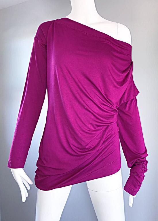 Vivienne Westwood Vintage 90s Magenta Fuchsia Pink Avant Garde Tunic Top Dress For Sale 3