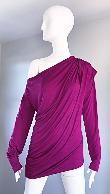 Vivienne Westwood Vintage 90s Magenta Fuchsia Pink Avant Garde Tunic Top Dress For Sale 4