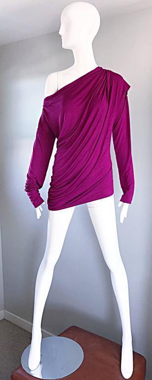 Vivienne Westwood Vintage 90s Magenta Fuchsia Pink Avant Garde Tunic Top Dress For Sale 5