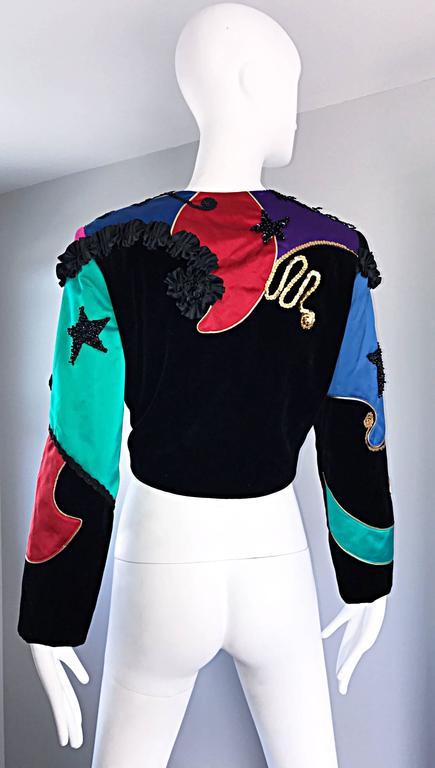 Women's Rare Vintage Louis Feraud ' Matador ' Cropped Sequined Circus Jacket Bolero   For Sale