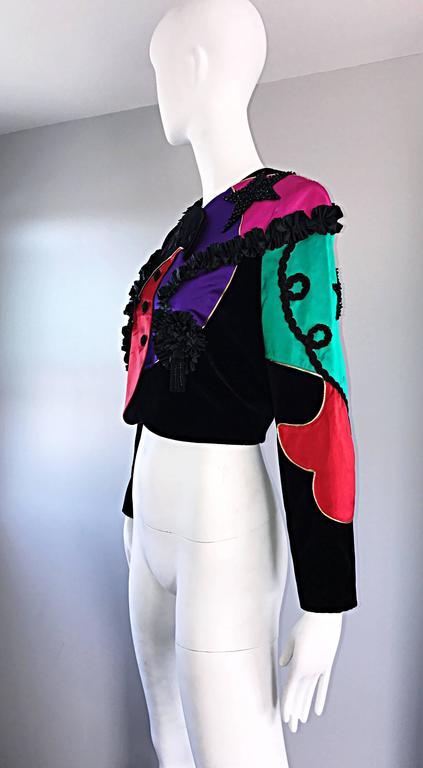 Rare Vintage Louis Feraud ' Matador ' Cropped Sequined Circus Jacket Bolero   For Sale 1