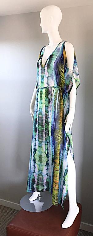 1970s Biba Tie Dye Vintage Cold Shoulder 70s Vintage