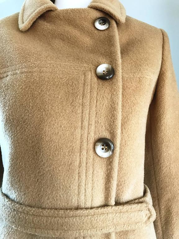 Chic 1960s Saks 5th Avenue Camel 60s Vintage Virgin Mod Wool Cropped Jacket  5