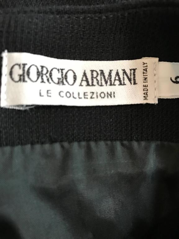 Vintage Giorgio Armani Collezioni 1990s Does 1960s Mod Wool Sz 6 90s Black Dress 9