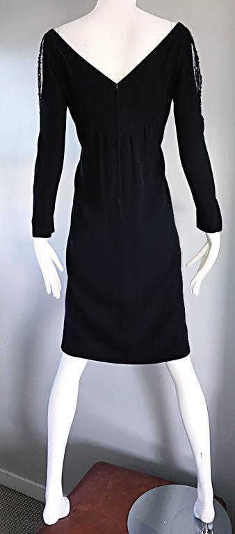 Vintage Bob Mackie Sz 10 12 Black Nude Illusion Sequin Beaded Little Black Dress 5