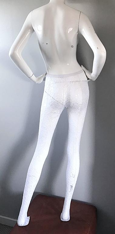 1990s New Gianni Versace Couture Rare 90s Vintage White