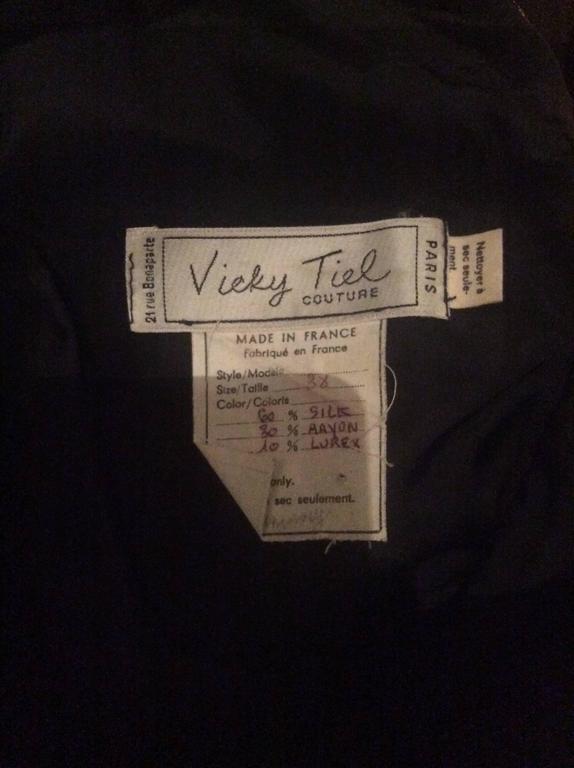 Vintage Vicky Tiel Couture Gold + Black Velvet Metallic Snakeskin Mini Dress  For Sale 6