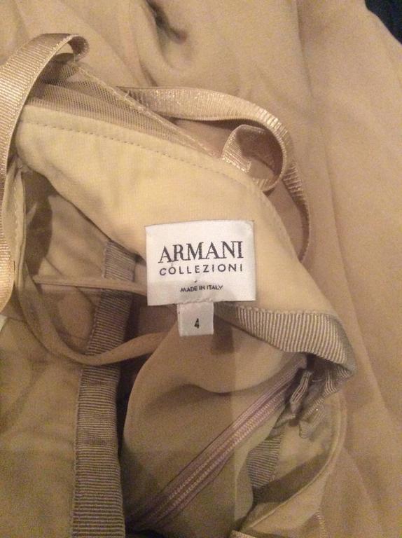 1990s Giorgio Armani Collezioni Nude Silk Chiffon Cut - Out Gown Evening Dress For Sale 5