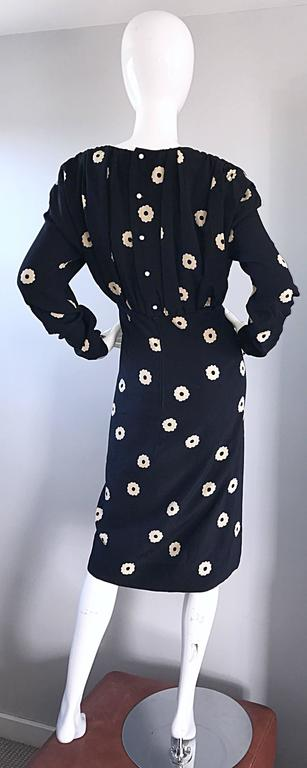 Pauline Trigere For Neiman Marcus Larger Size Vintage Black and White Silk Dress 4