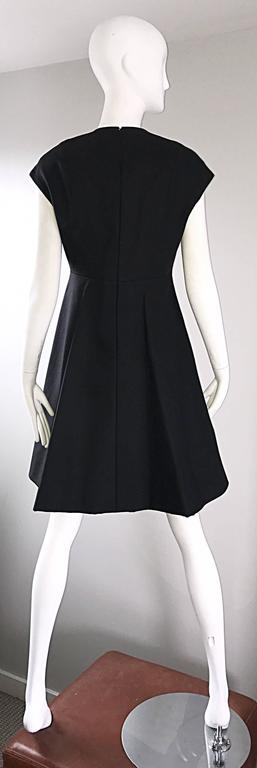 Geoffrey Beene 1960s Rare Black Silk Cut - Out Space Age A - Line Vintage Dress For Sale 1