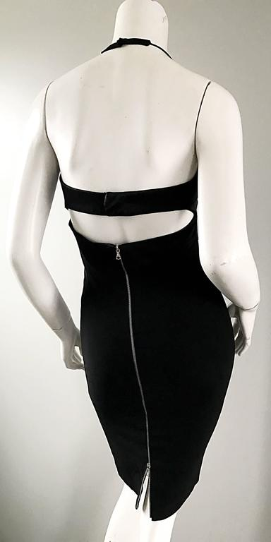 Narcisco Rodriguez First Collection 1997 Black Sexy Bodycon Cut - Out Back Dress For Sale 1