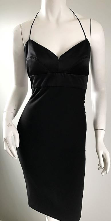 Narcisco Rodriguez First Collection 1997 Black Sexy Bodycon Cut - Out Back Dress For Sale 2