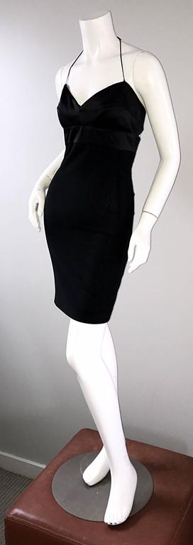 Narcisco Rodriguez First Collection 1997 Black Sexy Bodycon Cut - Out Back Dress For Sale 3
