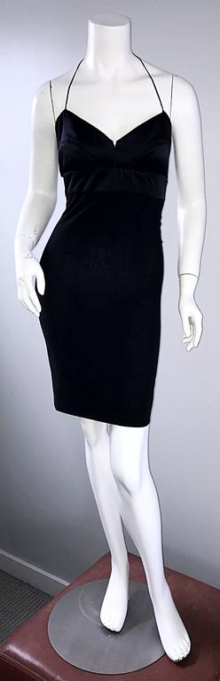 Narcisco Rodriguez First Collection 1997 Black Sexy Bodycon Cut - Out Back Dress For Sale 4