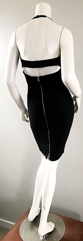 Narcisco Rodriguez First Collection 1997 Black Sexy Bodycon Cut - Out Back Dress For Sale 5