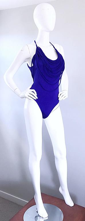 Amazing Vintage Bill Blass Royal Blue Avant Garde One