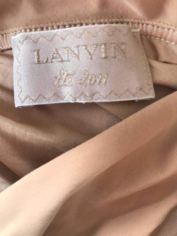 Lanvin 2011 Alber Elbaz Tan Caramel One Shoulder Grecian Bodysuit or Swimsuit For Sale 5