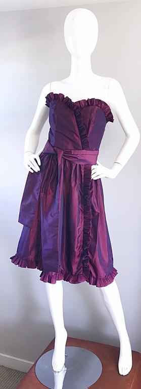 Vintage Victor Costa For Neiman Marcus Purple Metallic
