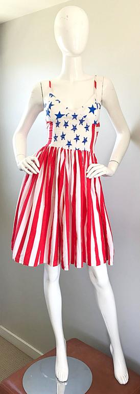 Extremely rare vintage BOY LONDON 'American Flag' dress! My heart literally skipped three beats when I found this rare beauty! I have never been fortunate enough to find an old Boy London piece until now! Whimsical American Flag print on this