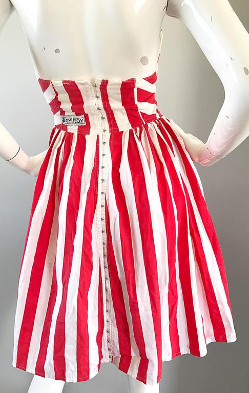 Rare Vintage Boy London 1980s American Flag Hand Painted Cotton 80s Dress For Sale 1