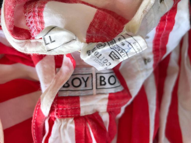 Rare Vintage Boy London 1980s American Flag Hand Painted Cotton 80s Dress For Sale 5