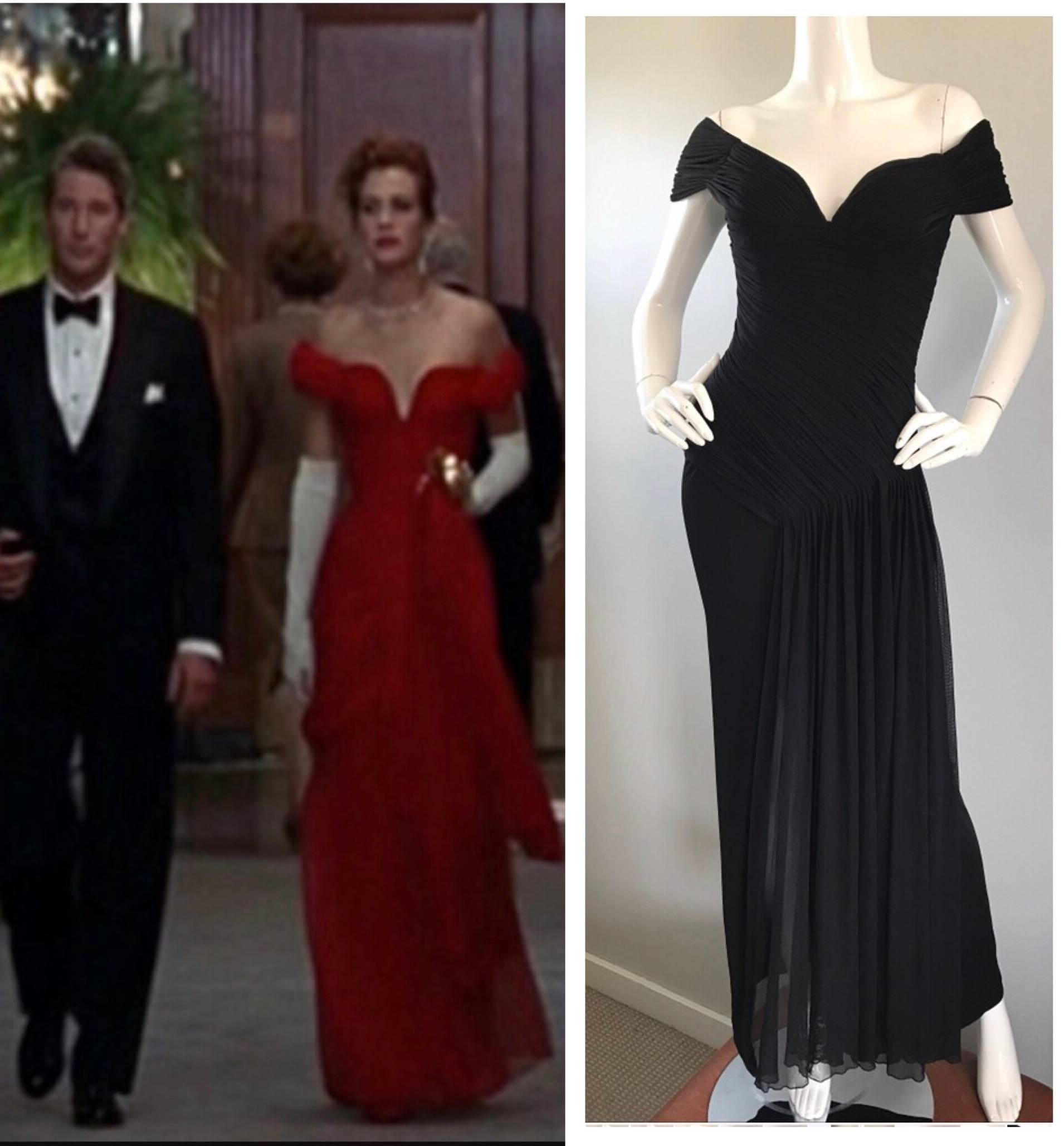 Julia Robert S Vicky Tiel Couture Pretty Woman Black Off