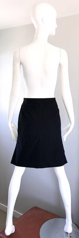 Women's Vintage Yves Saint Laurent Rive Gauche YSL Black Hi - Lo Asymmetrical 90s Skirt For Sale