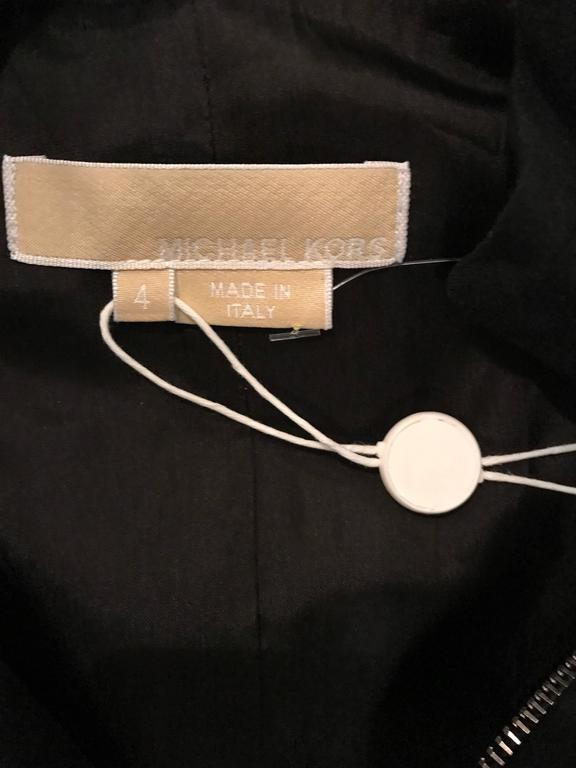 Brand New Michael Kors Collection Black Size 4 ' Zipper ' Sheath Dress NWT For Sale 6