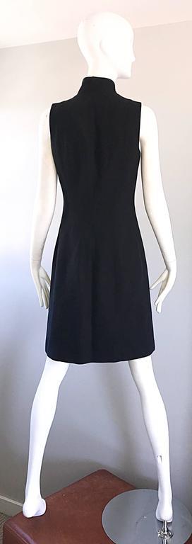Brand New Michael Kors Collection Black Size 4 ' Zipper ' Sheath Dress NWT For Sale 1