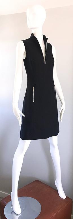 Brand New Michael Kors Collection Black Size 4 ' Zipper ' Sheath Dress NWT For Sale 3
