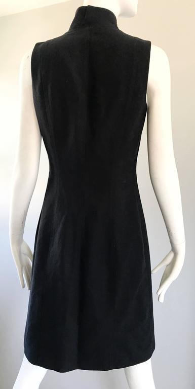 Brand New Michael Kors Collection Black Size 4 ' Zipper ' Sheath Dress NWT For Sale 4