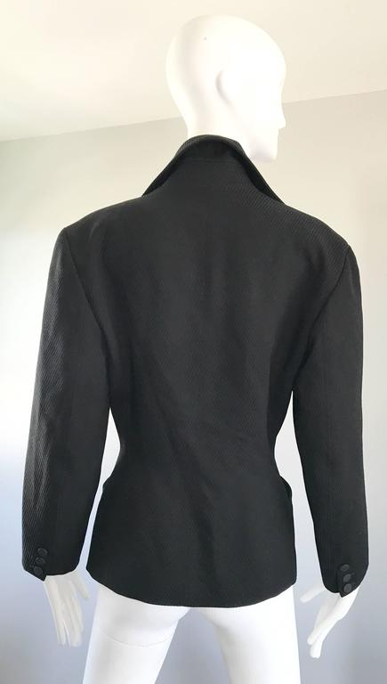 Women's Rare Vintage Alaia 1980s Musuem Held Avant Garde Wasp Waist 80s Fitted Jacket For Sale