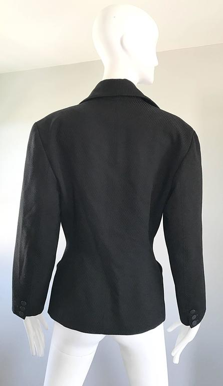 Rare Vintage Alaia 1980s Musuem Held Avant Garde Wasp Waist 80s Fitted Jacket For Sale 3