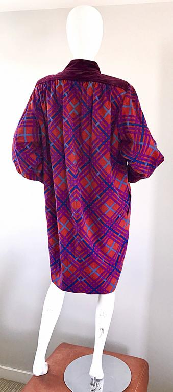 Yves Saint Laurent Vintage Russian Collection 1976 Geometric 70s Dress  For Sale 3