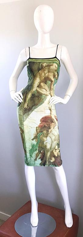 Rare 1990s Quot Creation Of Adam Quot Michelangelo Bodycon