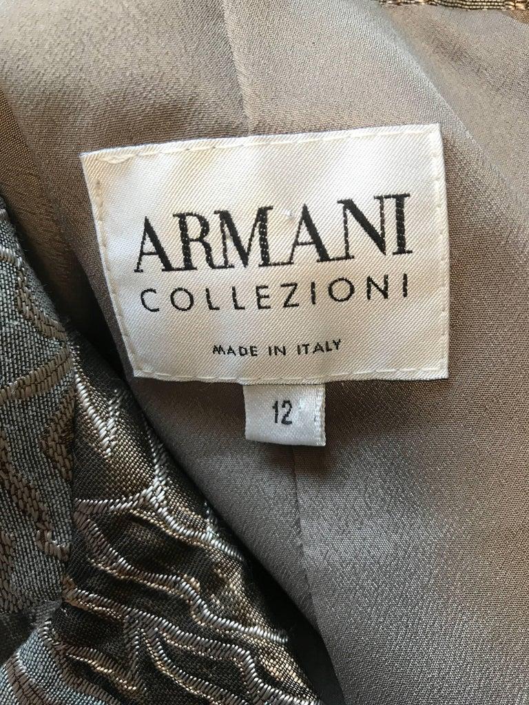 Giorgio 12 Collezioni Vintage Size Beautiful Armani Taupe Grey xwSg6gR