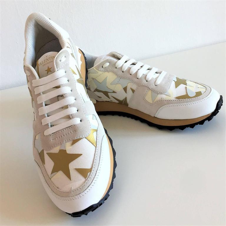 New Valentino Garavani Sneaker Starstudded Shoes 4