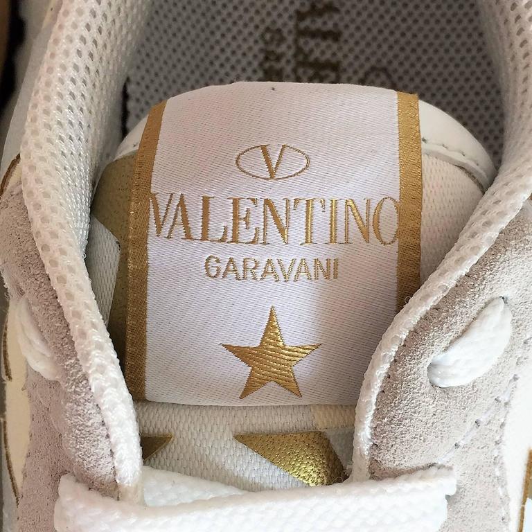 New Valentino Garavani Sneaker Starstudded Shoes 6