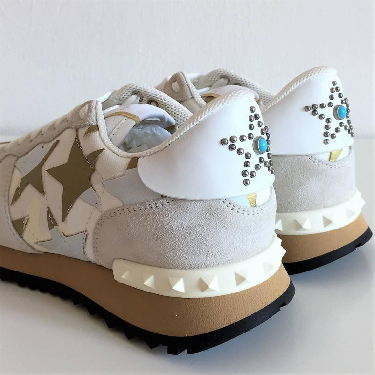 New Valentino Garavani Sneaker Starstudded Shoes 7