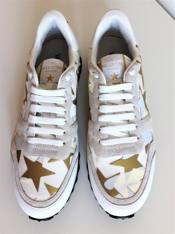 New Valentino Garavani Sneaker Starstudded Shoes 9