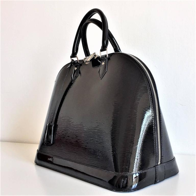 louis vuitton black electric epi leather alma gm bag for sale at 1stdibs
