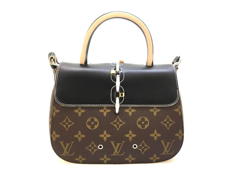 Louis Vuitton Chain It PM Black and Brown Monogram Canvas Top Handle Bag 3