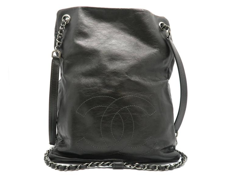 Chanel Dark Green Calfskin Leather Backpack 3