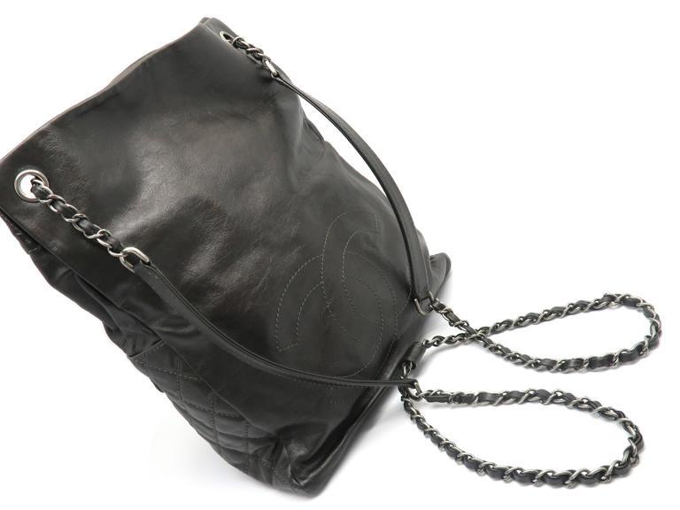 Chanel Dark Green Calfskin Leather Backpack 6