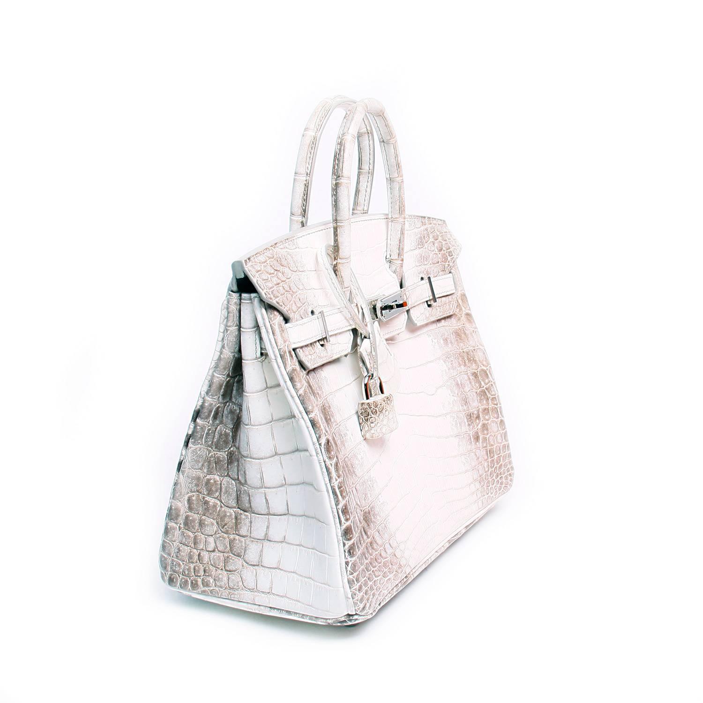 75715b420d13 Hermes 25cm Matte Blanc White Himalayan Nilo Crocodile Birkin Bag For Sale  at 1stdibs